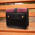 Шкіряна жіноча сумка Folk Babak 865076/66 чорний/марсала, фото 2