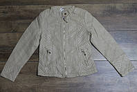 Весенняя куртка для девочек ( кож-зам) 98, 104  рост Цвет бежевый