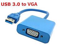 Конвертер с USB 3.0 на VGA (пакет), переходник с разъемами USB и VGA