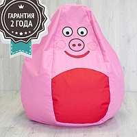 """Детское кресло мешок """"Свинка Пеппе"""" для детей L 90x60 (ткань: оксфорд), фото 1"""