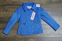Весенняя куртка для девочек ( кож-зам)  110, 116, 122 рост Цвет голубой
