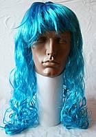 Парик карнавальный голубой, фото 1
