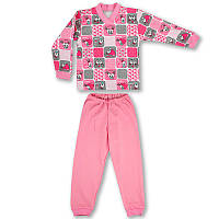 Детская пижама с манжетами на штанах, на рост -104, 116, 122 см. (арт: 9-34_9)