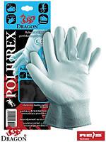 Защитные перчатки изготовлены из нейлона POLIUREX