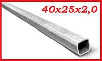 Труба профильная электросварная 40х25х2,0 мм