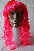 Парик карнавальный ярко-розовый