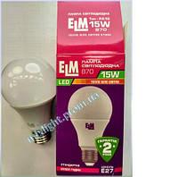Светодиодная лампа В70 15W E27 3000K ELM