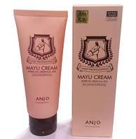 Крем для лица профессиональный антивозрастной ANJO Mayu Horse Oil Cream 80 мл., фото 1