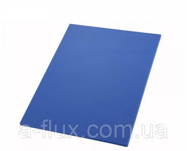 Доска разделочная пластиковая синяя 510*380*13 мм