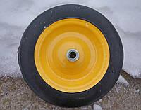 Колесо литое усиленое BudMonster 14*4 (01-008) o/d= 20 желтое, фото 1