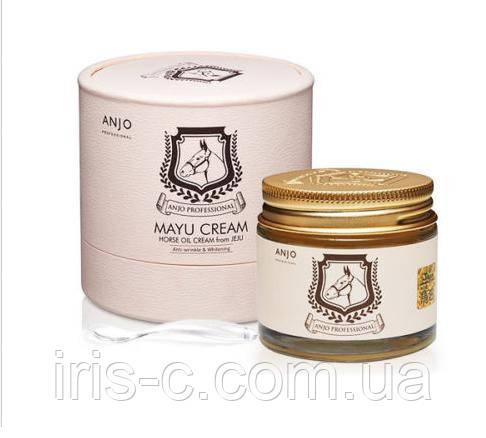 Крем для лица с Mayu для особо чувствительной кожи  ANJO Mayu Horse Oil Cream 70 мл.