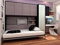 Горизонтальная шкаф-кровать стенка, фото 1