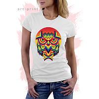 Женская белая футболка с принтом OWL