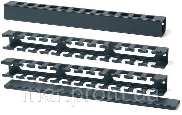 Организатор кабеля 1U для шкафа или стойки, металл