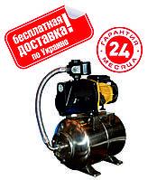 Насосная станция Optima JET100А-PL-50л.бак нержавейка 1,1кВт чугун короткий, пластиковая крыльчатка.