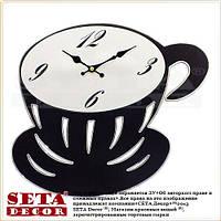 Часы Чашка кофе настенные чёрного цвета