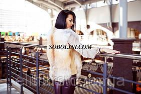 Шикарный жилет из меха лисы, по бокам кожаные вставки, на молнии, в наличии