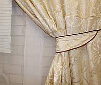 Комплект плотных штор, цвет бежевый 060ш