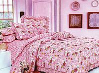 Постельное белье (полуторный размер) Польша Фламинго