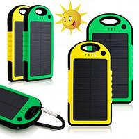 Внешний аккумулятор, солнечное зарядное устройство Solar charger Power Bank 20000 mAh