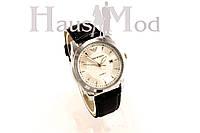 Мужские часы  Emporio Armani черные  в серебре (копия)