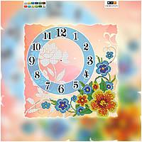 """Схема для вышивки бисером """"Часы"""", на холсте 27х27 см"""