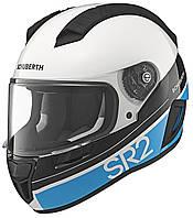 Мотошлем Schuberth SR2 Formula белый черный голубой 58/59 (L)
