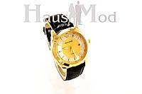 Мужские часы  Emporio Armani черные  в золоте (копия)