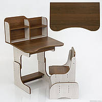 Парта школьная с надстройкой и стулом