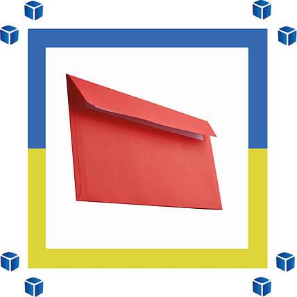 Конверты Е65 (DL) (110х220) скл, красный (0+0), фото 2