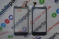 Оригинальный Сенсор (Тачскрин) для HTC Desire 310 One Sim (128*63,5 мм) (Черный)+Скотч