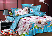 Комплект постельного белья 3D семейный, полиэстер. Постільна білизна. (арт.6690)