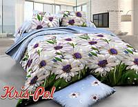 Комплект постельного белья 3D семейный, полиэстер. Постільна білизна. (арт.6706)