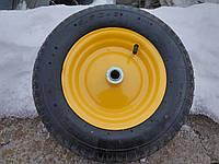 Колесо пневматическое BudMonster 3,5*8 (01-009,01-031) o/d= 15 желтое