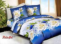 Комплект постельного белья 3D семейный, полиэстер. Постільна білизна. (арт.6725)