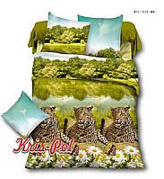 Комплект постельного белья 3D семейный, полиэстер. Постільна білизна. (арт.6726)
