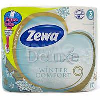 Туалетная бумага Zewa Deluxe Зимняя коллекция 4 рулона 21м/150 листов 3 слоя