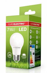 Лампочка LED 7Вт Е27 яркий свет 4000К EuroElectric
