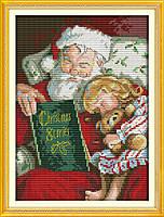 Рождественская история Набор для вышивки крестом с печатью на ткани 14ст