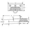 SitaRondo Парапетная воронка с прижимным фланцем DN100 длина трубы 800мм нерж. сталь 2мм (Германия), фото 2