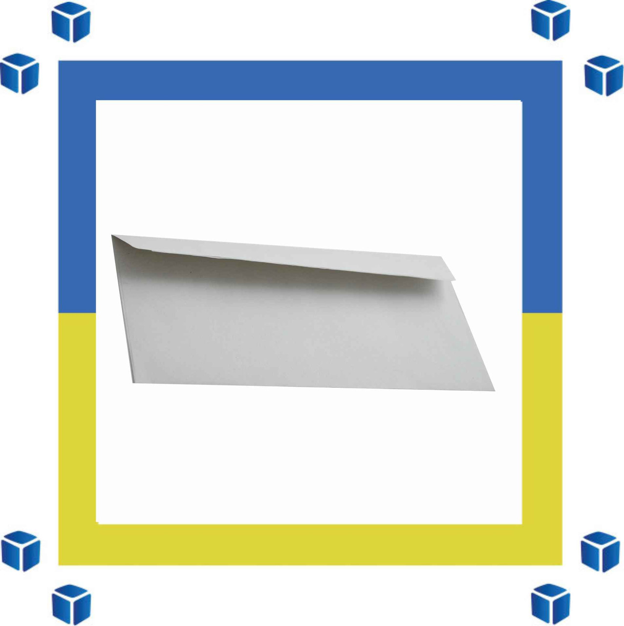 Конверты Е65 (DL) (110х220) скл, серый (0+0)
