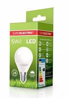 Лампочка LED 5Вт Е14 яркий свет 4000К EuroElectric