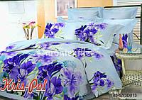 Комплект постельного белья 3D семейный, полиэстер. Постільна білизна. (арт.6729)