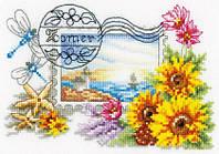 """Набор для вышивания крестом  VERVACO """"Летняя почтовая марка"""""""