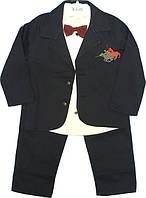 Нарядный костюм-тройка с бабочкой и пиджаком, на мальчика, 1-3 года, Турция, оптом-