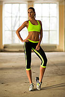 Designed For Fitness. Спортивный костюм Low Rise Lemon Capri, фото 1
