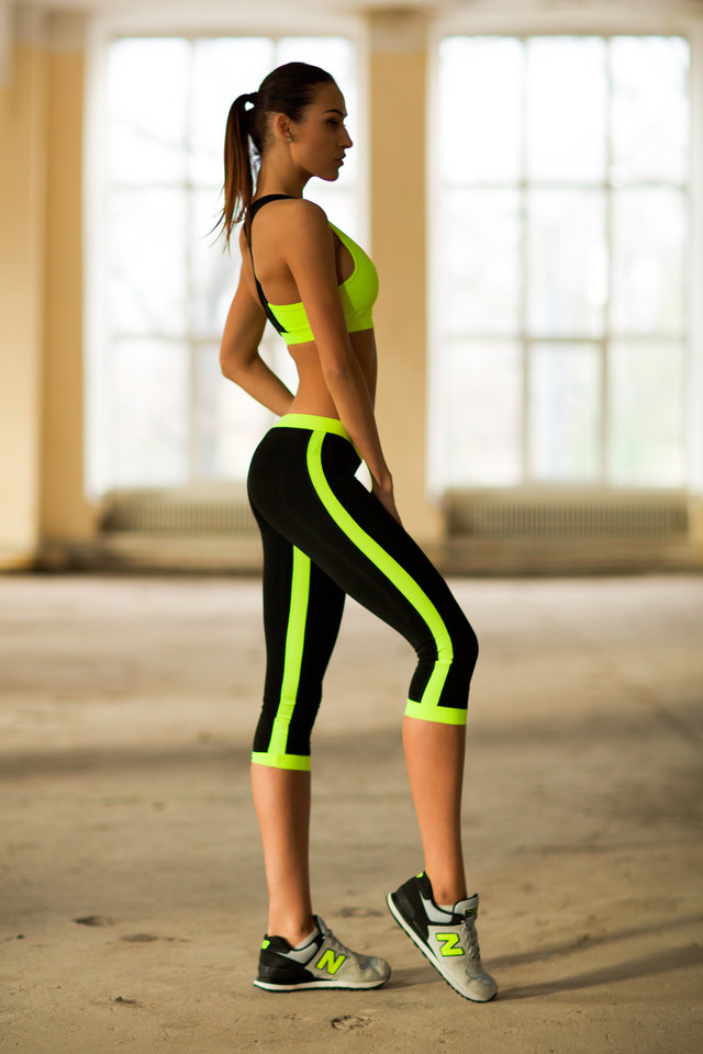 Low Rise Lemon Capri костюм для фитнеса Designed For Fitness