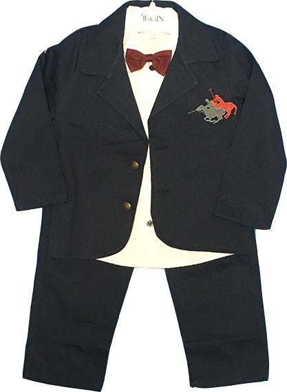 Нарядный костюм-тройка с бабочкой и пиджаком, на мальчика, 1-3 года, Турция, оптом