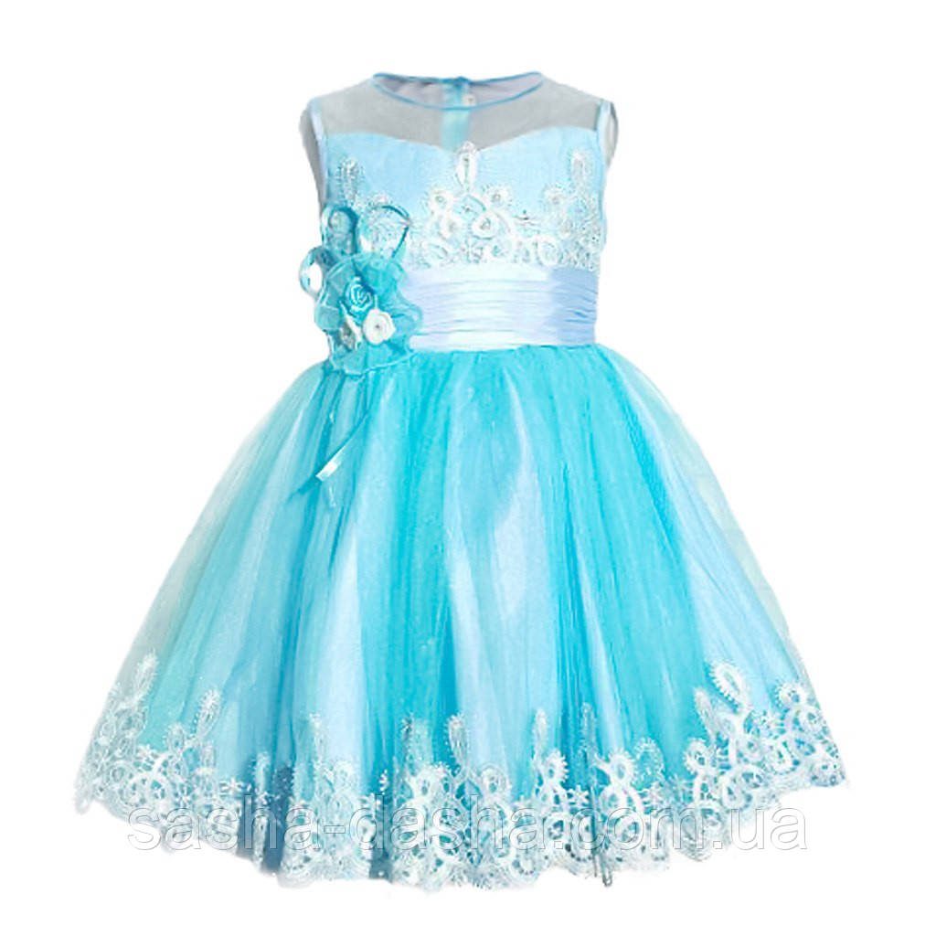 Нарядное пышное платье для девочек. - Саша и Даша. Интернет-магазин детских  товаров b12cd6ab160