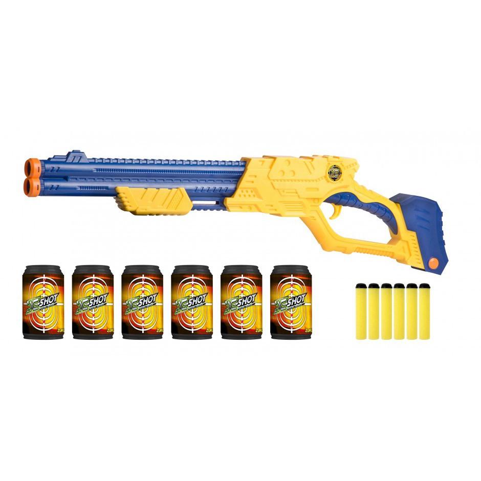 Бластер X-Shot швидкострільний EXCEL Vigilante (6 банок, 10 патронів)